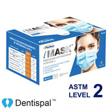 Disposable Premium Medical Surgical Ear-Loop Face Masks ASTM Level 2 iMask 50pcs
