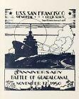 U.S.S. San Francisco Anniversary Battle of Guadalcanal 1950 Cover