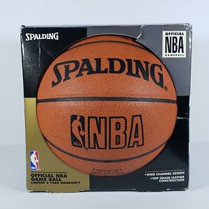 Vtg 1995 Official NBA Spalding Basketball Game Ball Authentic Leather NEW in Box