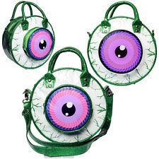 Kreepsville 666 Green & Purple Glitter Eyeball Horror Handbag