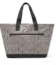 VICTORIA'S SECRET PINK LIMITED EDITION WEEKENDER TOTE SILVER METALLIC FREE S&H