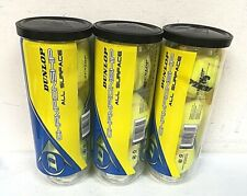 Lot of 3 Dunlop Sports Champ All Surface 3 Ball Can - 0D_26