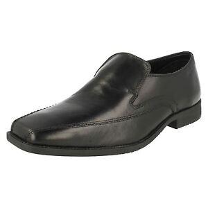 Hommes Clarks Robe Cuir Mocassins à Enfiler Travail Collège Chaussures Habillées