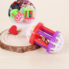 Tinkle Bell Dog Puppy Cat Toy Kitten Play Ball With Plastic Jingle Bell Ball*v*