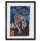 Ernst Ludwig Kirchner German Qualen Der Liebe Old Painting 12X16 Framed Print