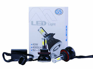Led Headlights G5 Bulb Conversion Kit Extremely Super Bright COB Chip 80W 8000LM