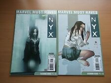 MARVEL MUST HAVES ISSUES NYX #1-3 & 4-5, REPRINTING 1ST & 2ND X-23 APP, KEY, HOT