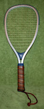 Used Wilson Tempest Racquetball Racquet with leather handle & Silver Cover