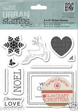 Papermania rubber stamps Craft Christmas wishes Reindeer Noel Snowflake Love