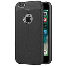 Housse de Protection Apple Iphone 6 6s Étui Portable Sac Silicone Noir Mat