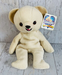 "VINTAGE 1999 8"" LEVER BROTHERS SNUGGLE BEAR BEANIE/BEAN BAG PLUSH New Tags Clean"