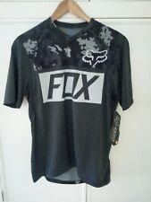 New Fox Indicator S/S Cycling Jersey Black Heather Size Sm MTB Enduro Trail