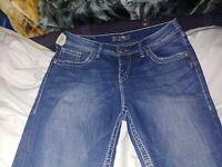 Silver Jeans Womens Sam Boyfriend Jeans Size W27XL28.  H233