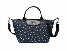 NWT Longchamp Le Pliage Star Les Etoiles Small Satchel Crossbody Bag Dark Blue