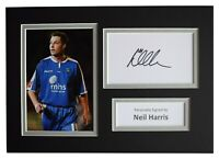 Neil Harris Signed Autograph A4 photo display Millwall Football Sport AFTAL COA