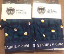 31-33 ~ M B Pair Of Thieves ~ 4 Pair Mens Boxer Brief Underwear Performance