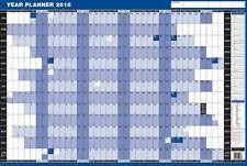 2018 anno montato Planner-Muro Laminato grandi dimensioni in Blu 61cm x 91cm