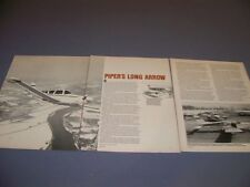 VINTAGE..PIPER CHEROKEE ARROW II..HISTORY/DETAILS/SPECS/3-VIEWS..RARE! (461H)