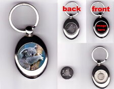 KOALA TROLLEY COIN TOKEN KEYRING WILD ANIMAL LOVER PHOTO FAN GIFT