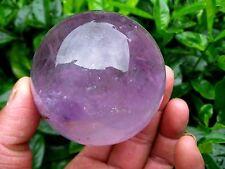 36-40mm Natural Amethyst Quartz Crystal Sphere Ball Healing Stone + Stand