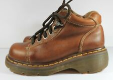 Doc Dr Martens Bark Brown Leather Ankle Boots 8542, US Women 7 EU 38
