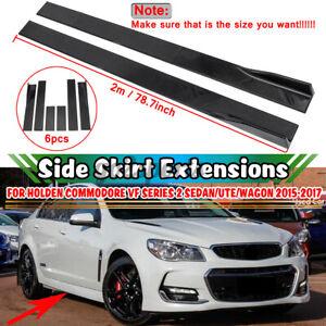 For Holden Commodore VF VE VY UTE/Sedan/Wagon Car Side Skirt Spoiler Glossy 2m