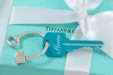 Tiffany & Co. Sterling Silver House Home Key Ring Keychain BOXED