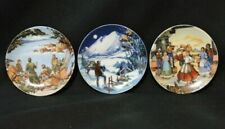 """Avon Plates """"American Portraits"""" Lot Of 3 4"""" Dia. In Original Factory Boxes"""