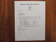 JAMES T. THOMAS  Signed 1978  Letter Mississippi Valley St. Univ. Football Coach
