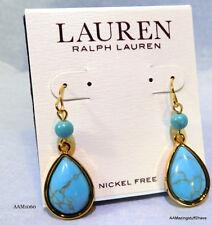 Lauren Ralph Lauren Turquoise Teardrop Earrings $30 FREE DOMESTIC SHIPPING