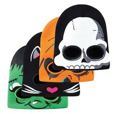 Halloween Mens Womens Balaclava Ghost Half Face Skull Mask Knitted Beanie Hat