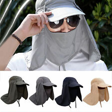 Fishing Hiking Hat Outdoor Sport UV Sun Protection Neck Face Flap Cap.Wide Brim