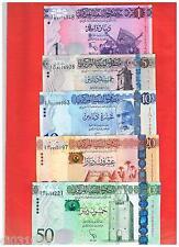 LOT SET SERIE 5 Billets Libye Libya  Dinars 2014 2015 NEW NOUVEAU  NEUF UNC