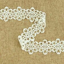 3 Yards Off white Lace Trim Fabric Dress Decor Trimming Embroidery Sew DIY Craft
