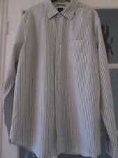 GAP SHIRT GREY/WHITE STRIPES LONG SLEEVES   LARGE  COTTON GOOD POCKET CHEAP