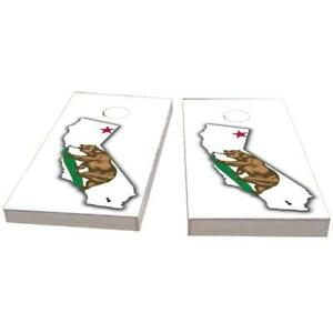 California Outline (White) Cornhole Boards - The Perfect Christmas Gift