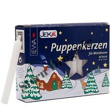 Puppenkerzen 7x70 mm weiß 40 Stück im Pack - für Miniature