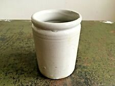 More details for antique small primitive light grey stoneware jam pot farmhouse barn salvage
