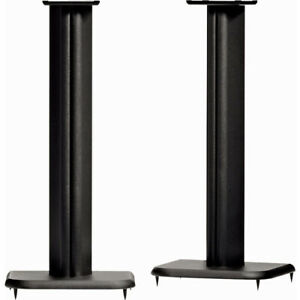 """SANUS BF24-B1 24"""" with 6.5"""" x 6.5"""" Top Plate Tall Speaker Stands Pair"""