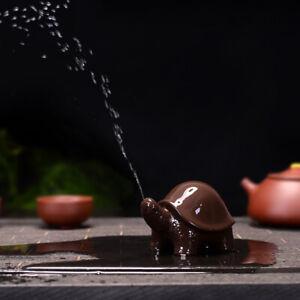 on sales China tea pet turtle zisha purple clay tea play home garden decoration