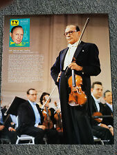 THE JACK BENNY SHOW VIOLIN MAGAZINE ADVERTISEMENT PRINT AD