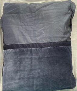 HOTEL COLLECTION FINEST BED LINEN VELVET AND SILK PANEL FULL/QUEEN DUVET COVER