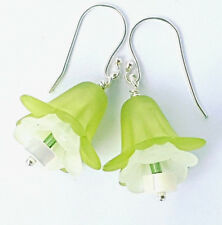 'Spring Belle' 925 Sterling Silver Handcrafted Drop Earrings Lucite MotheroPearl