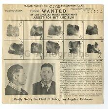 Wanted Notice - Champ Wisdom/Hit & Run - Los Angeles, California, 1940