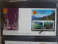 NEW ZEALAND 2001 TOURISM PHILA NIPPON '01 STAMP EXPO MINI SHEET SOUVENIR COVER