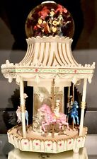 SUPER RARE Disney Mary Poppins CAROUSEL Figurines Rotation Musical Snowglobe