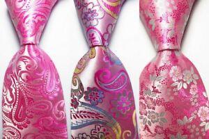3 pcs New Classic Floral JACQUARD WOVEN 100% Silk Men's Tie Necktie