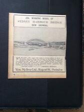 d1-1 ephemera 1935 swindon working model sydney harbour bridge small ad