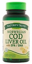 Nature's Truth Norwegian COD Liver Oil with EPA DHA Supplement 100 Each