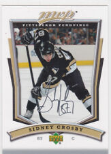 SIDNEY CROSBY Pittsburgh Penguins UD MVP AUTO SIGS Silver Insert Hockey Card LE